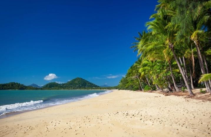 南国の白い砂浜