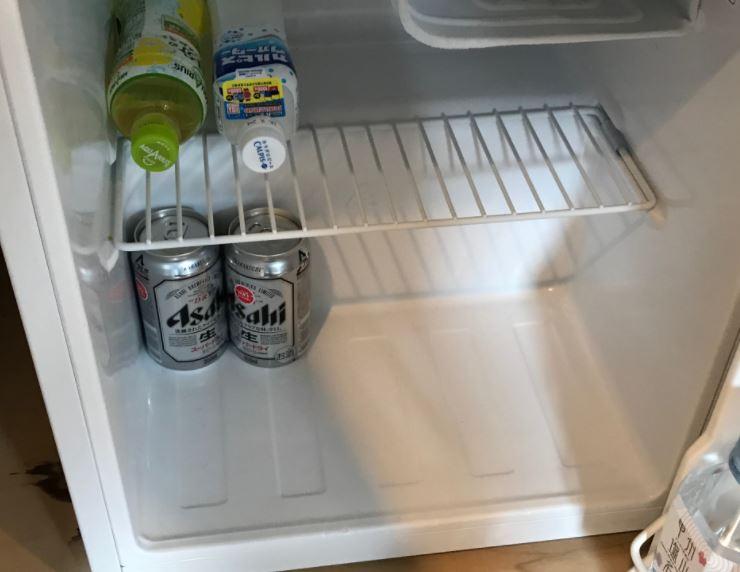 風月無辺客室冷蔵庫内