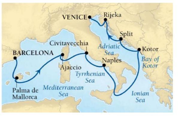航海予定地図