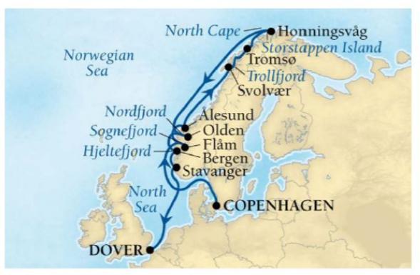 ノルウェー航海予定表