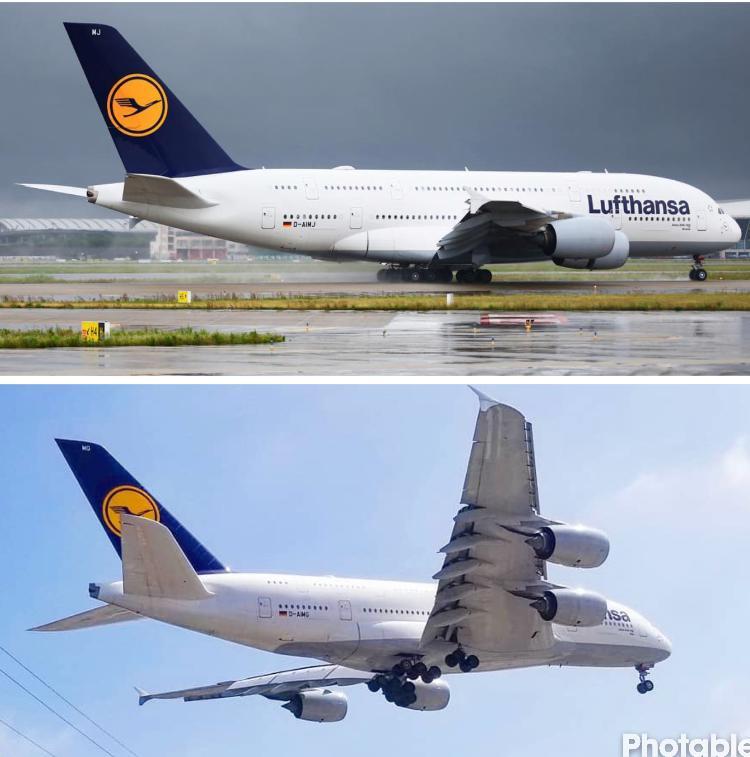 ルフトハンザの飛行機A380