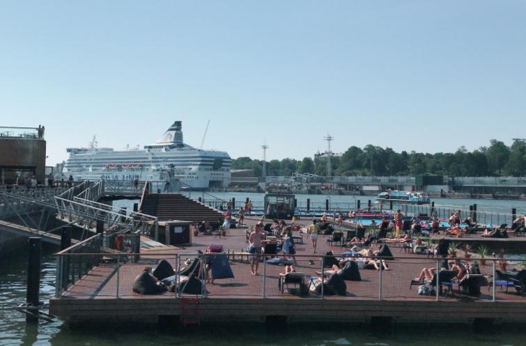 フィンランドヘルシンキ港