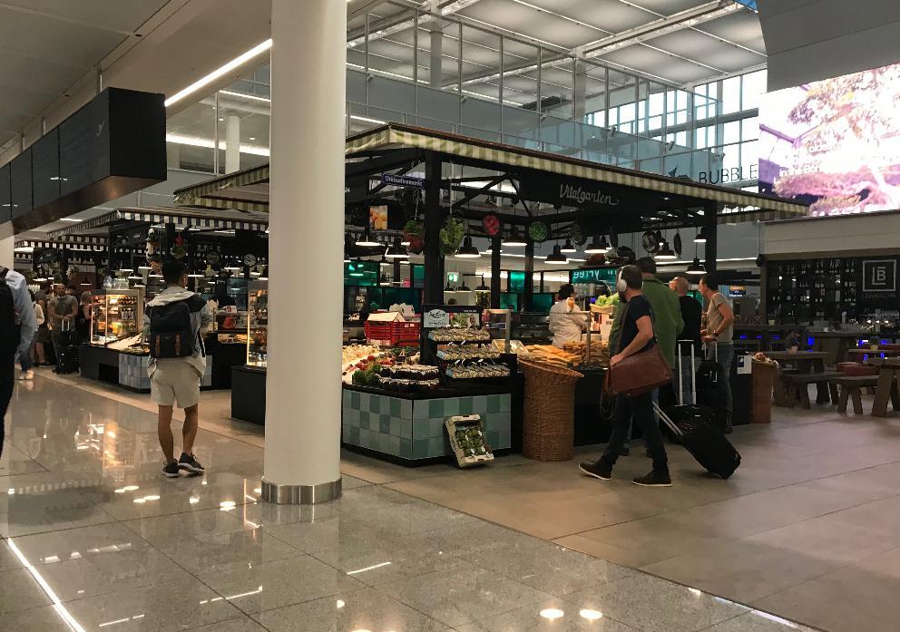 ミュンヘン空港カフェ