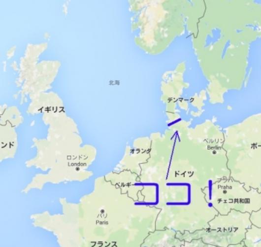 ドイツのキール運河の地図