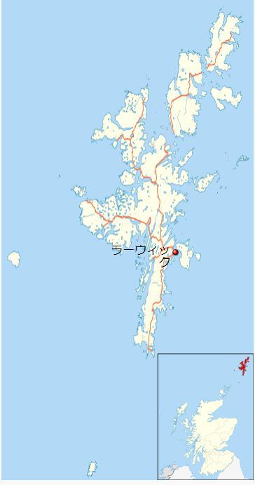 ラーウィック地図