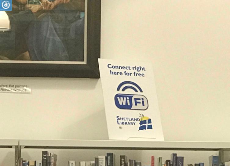 ラーウィックの図書館Wifi