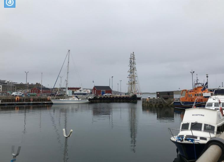 ラーウィックの漁港