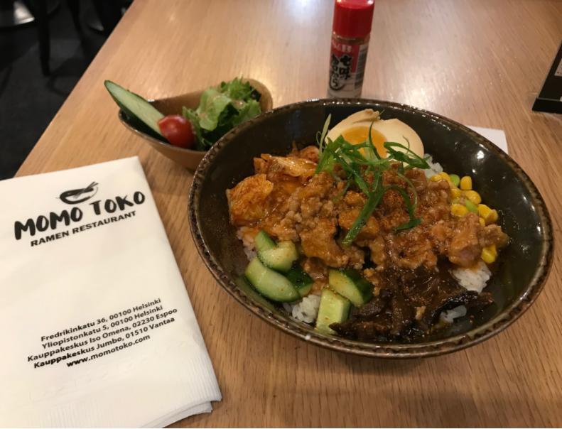 フィンランド・ヘルシンキにて日本食