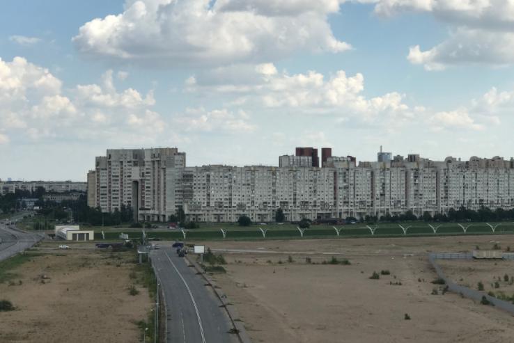 ロシアの港周辺の風景