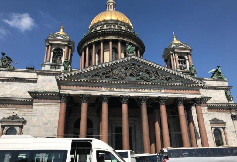 ロシアのサンクトペテルブルクのイサアク大聖堂