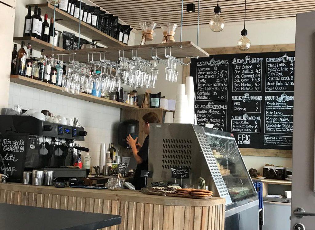 エストニア・タリンでのカフェ