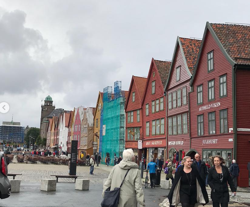 ノルウェーベルゲンの街並み