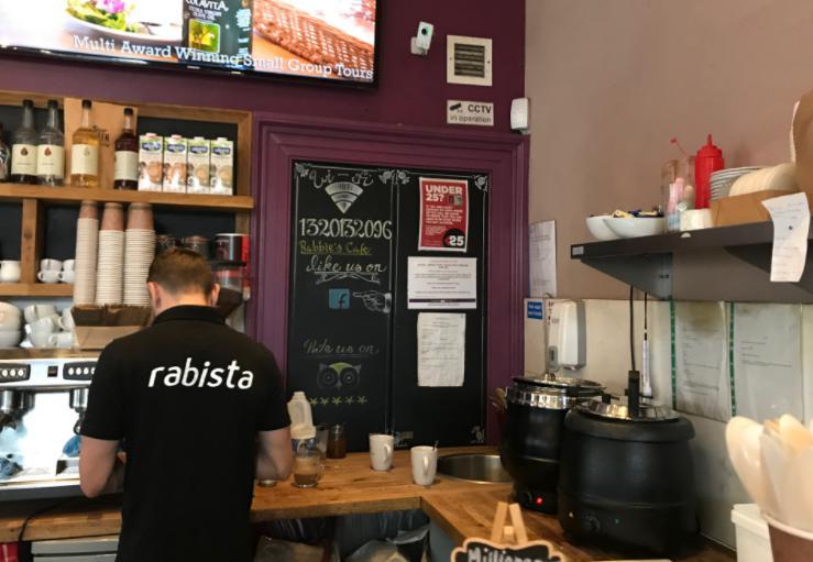 エディンバラのカフェ