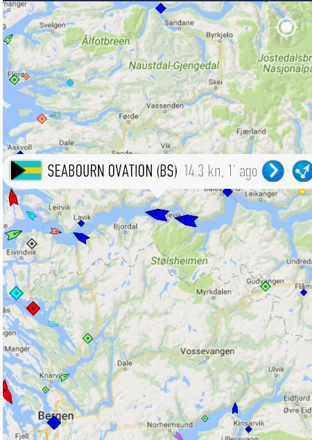 ノルウェーフロムから帰る船