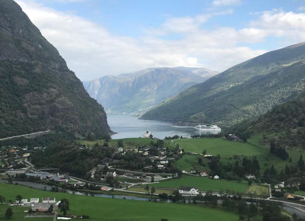 ノルウェーフロムの風景