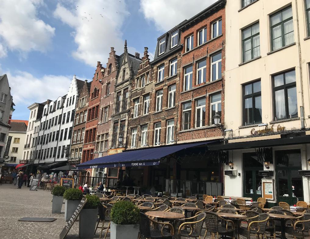 ベルギーアントワープの街並み
