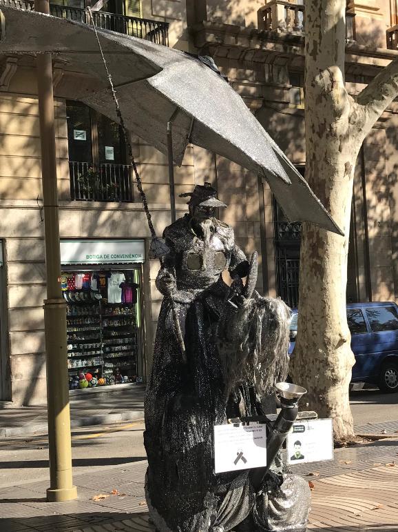 バルセロナの大道芸人