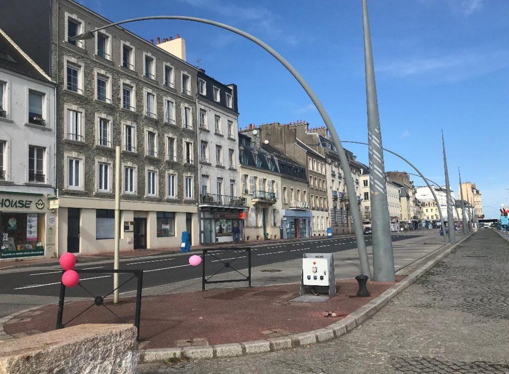 フランスのシェルブールの街並み