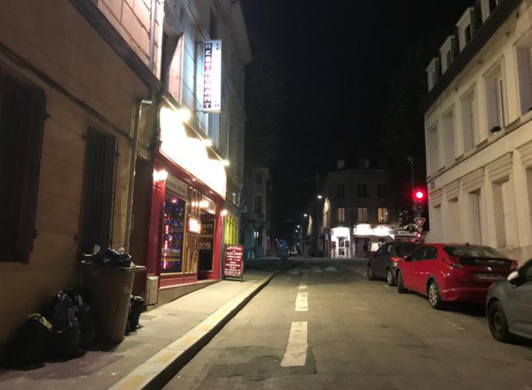 フランス・ルーアンの夜の街