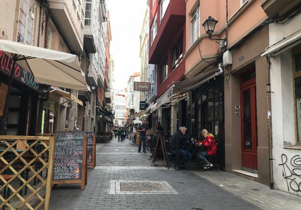 スペイン・ラ・コルーニャの街並み