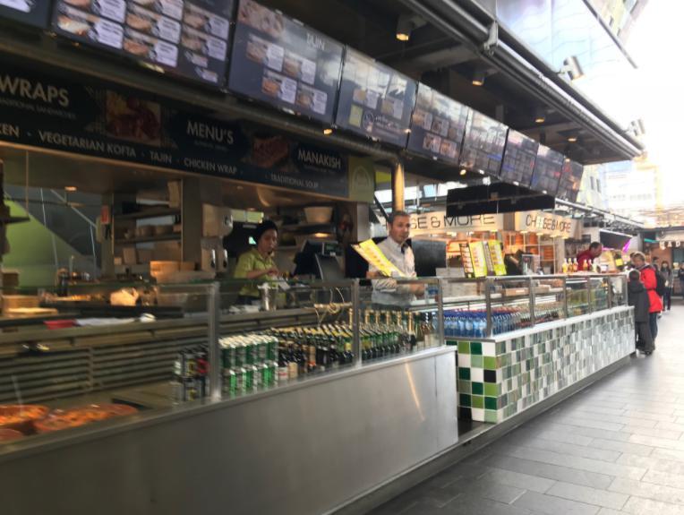 ロッテルダムのマーケットホール(マルクトハル)内部