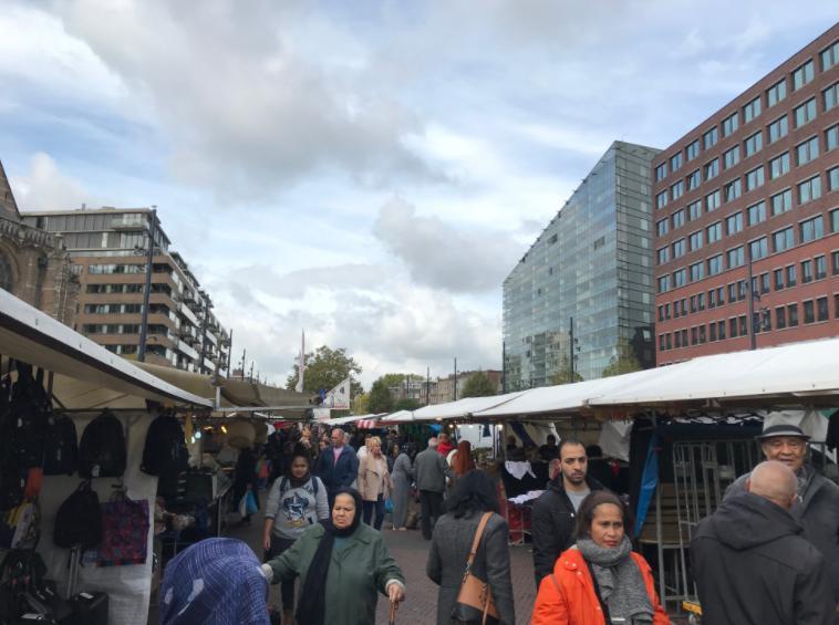 オランダ・ロッテルダムのマーケット