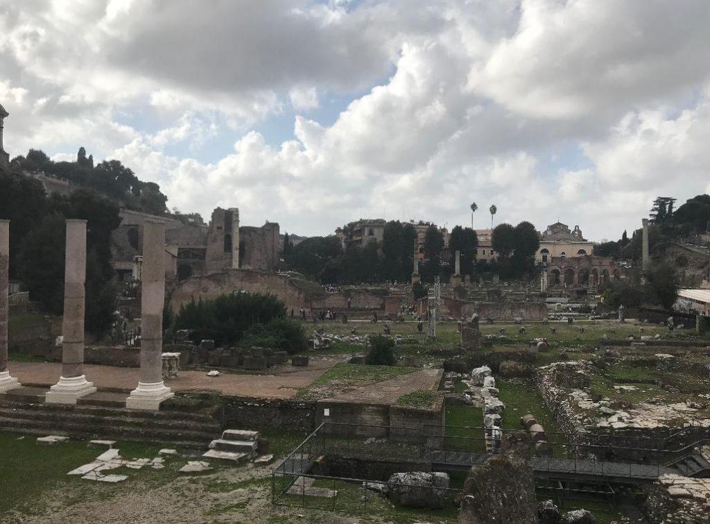 イタリア・ローマのフォロ・ロマーノ