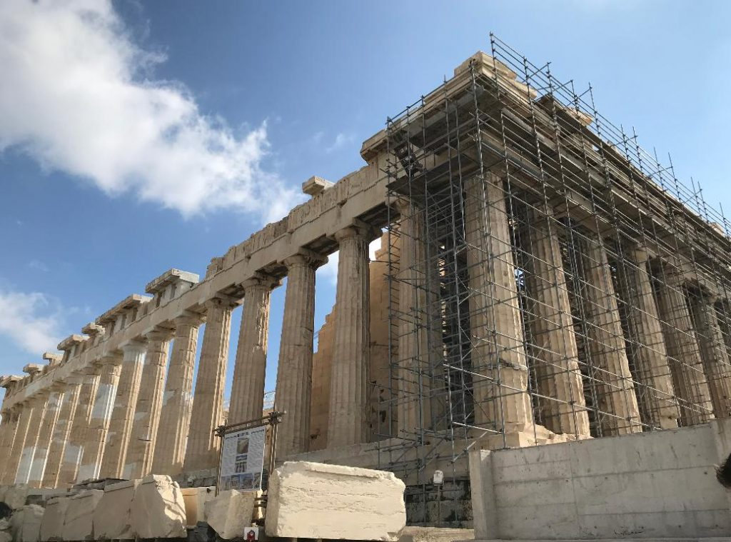 ギリシャのパルテノン神殿