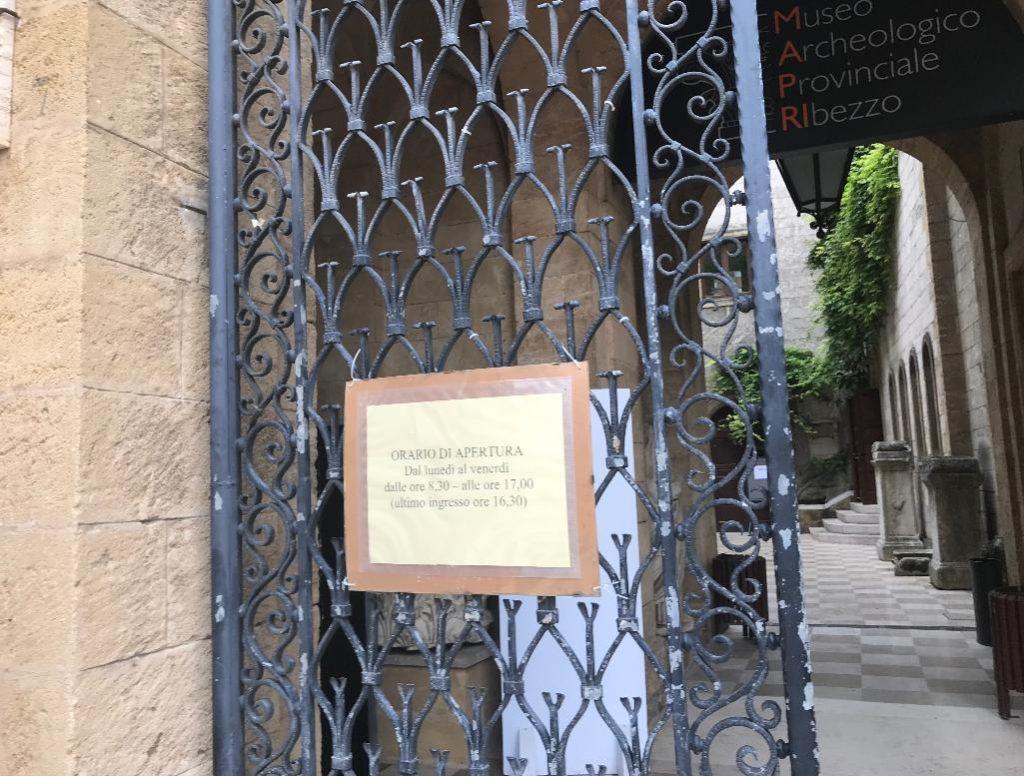 ブリンディジの博物館入り口