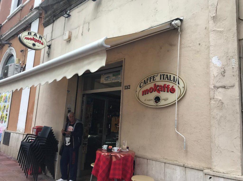 ブリンディジのカフェその1
