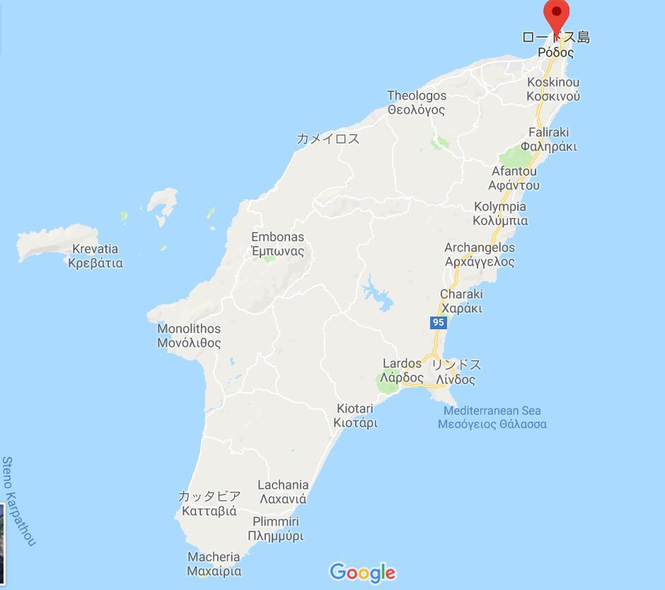 ギリシャのロドス島