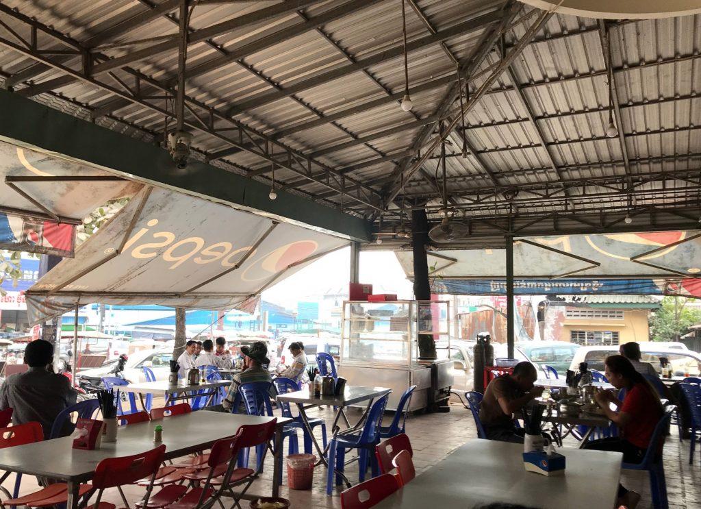 カンボジア・シアヌークビルにあるレストラン