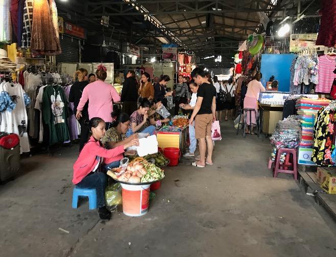 カンボジアのシアヌークビルマーケット