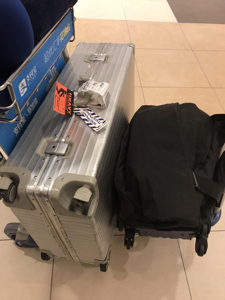 シンガポール空港荷物受け取り