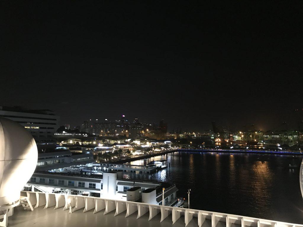 シンガポールVIVOシティの夜景