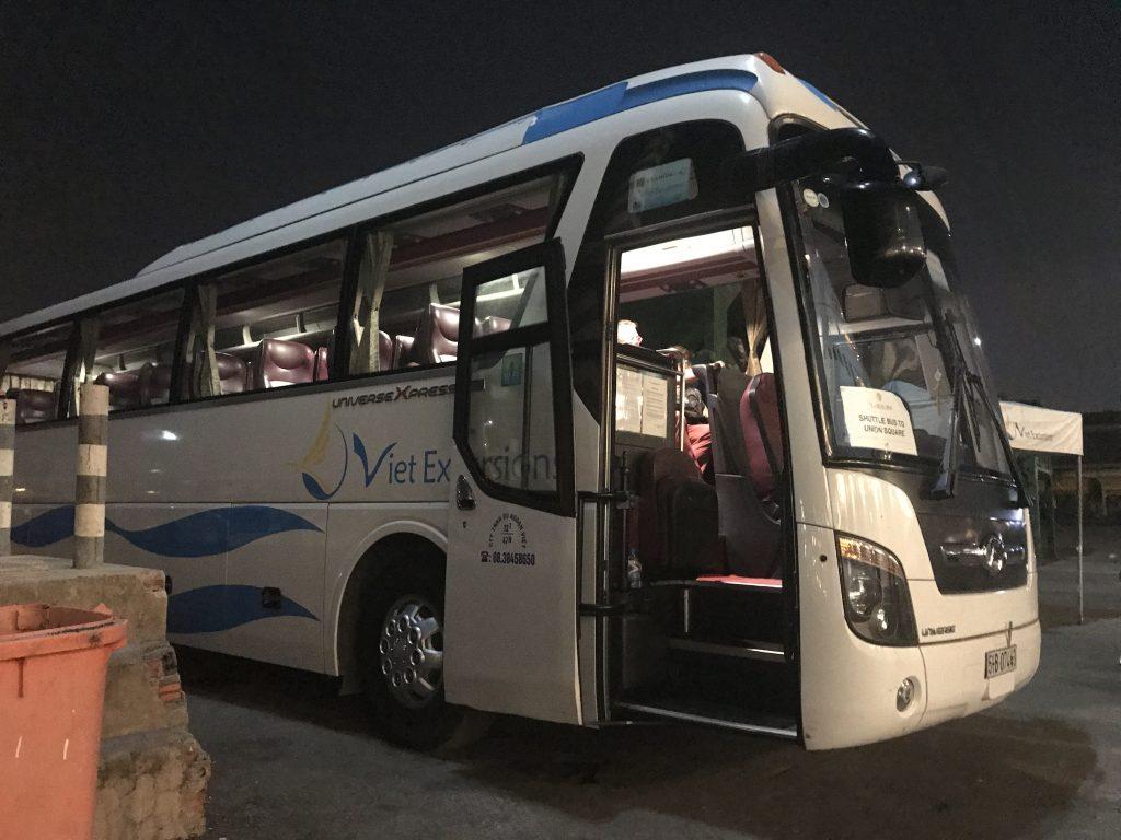 港からのシャトルバス