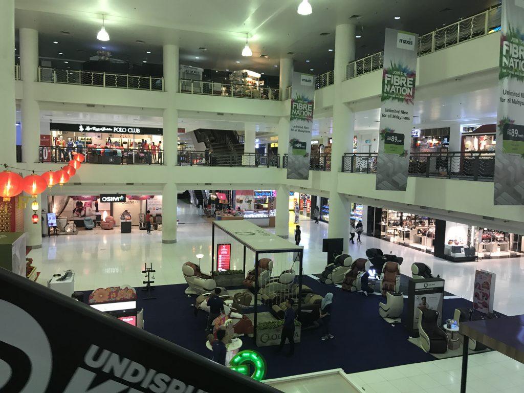 マラッカのショッピンセンターにあるマッサージチェア