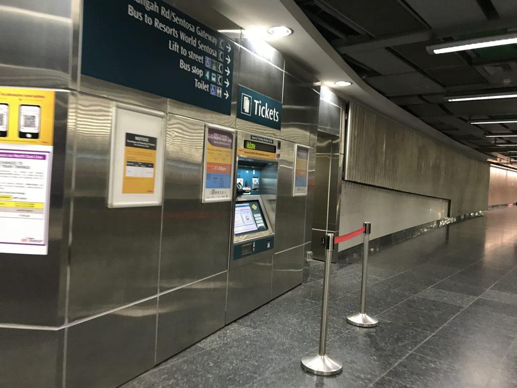 シンガポールハーバーフロント駅構内
