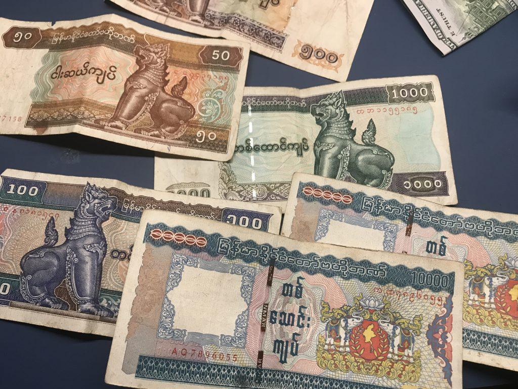 ミャンマーのお金チャット