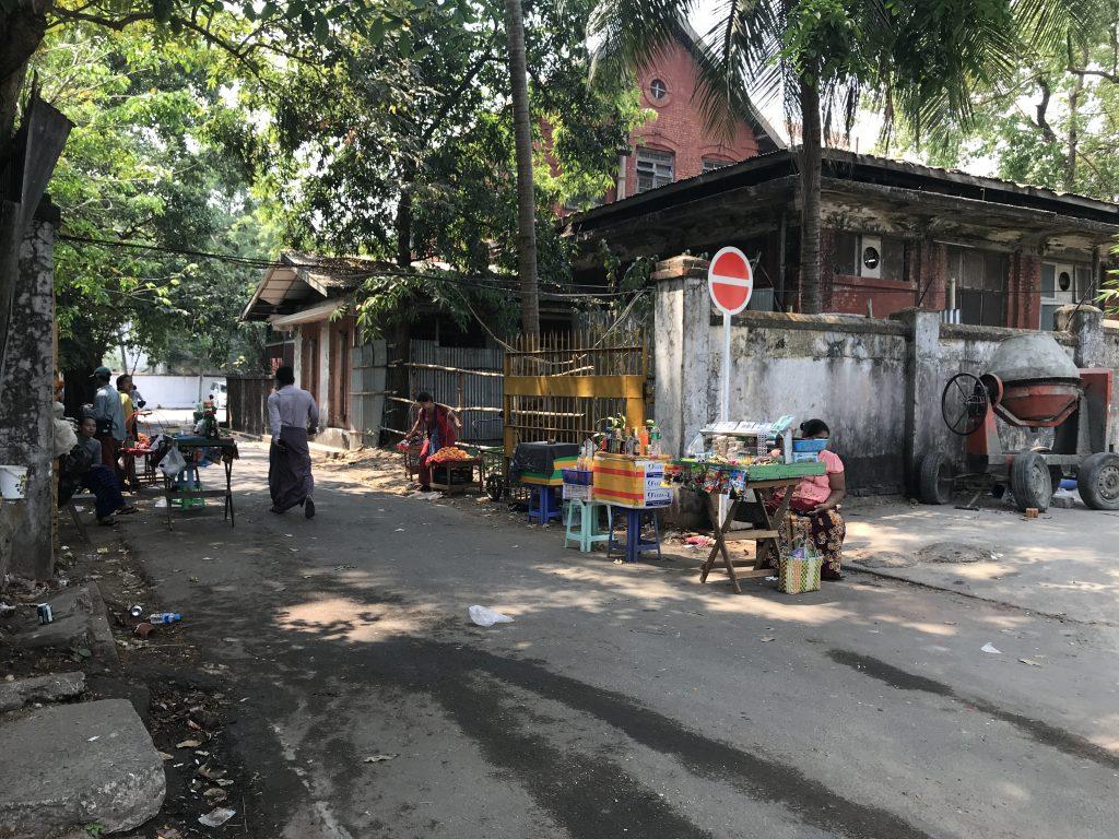 ミャンマーヤンゴンの日常