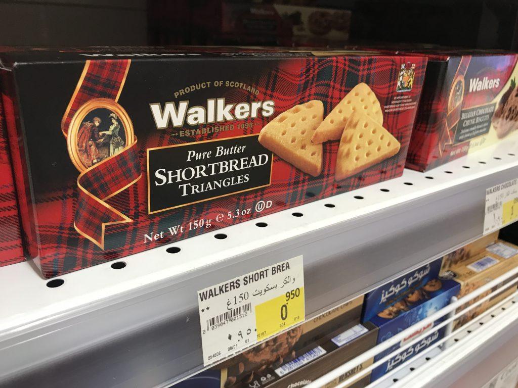 有名なウオーカーのクッキー