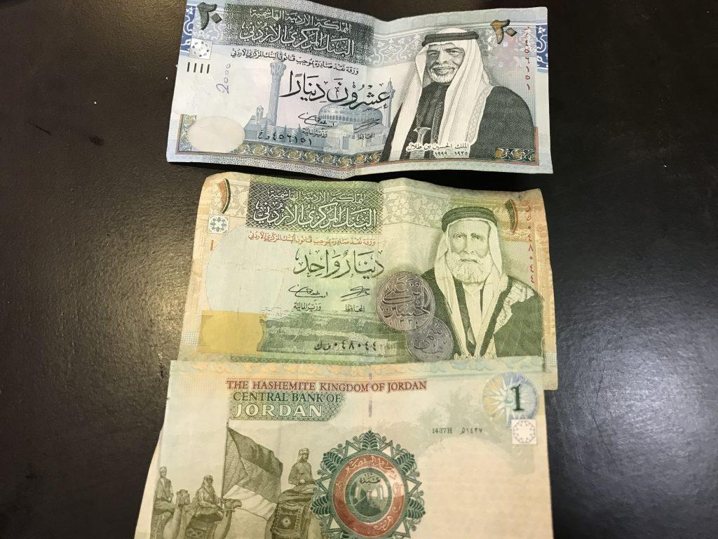 ヨルダン紙幣のディナール
