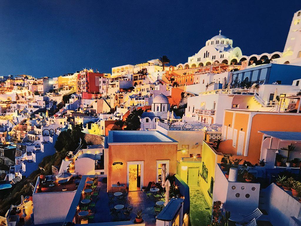 ギリシャサントリーニ島イアの景色