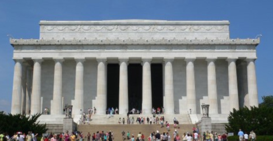 アメリカのリンカーン記念館