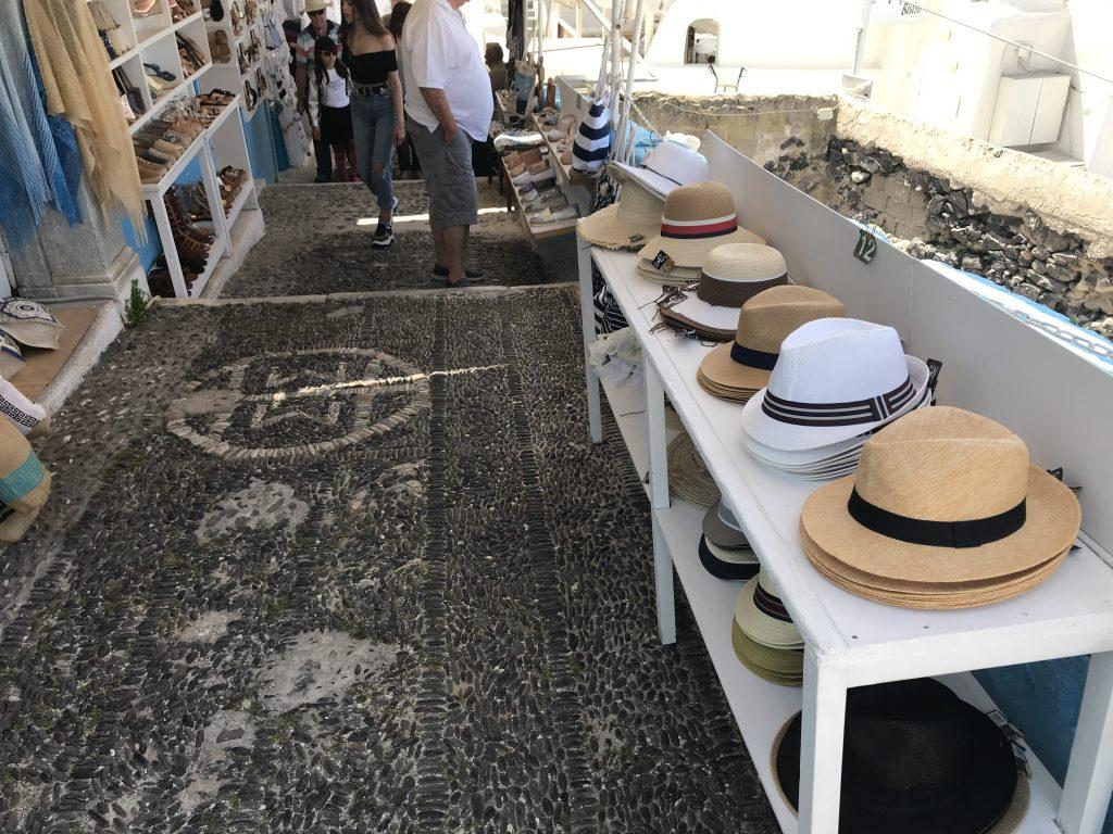 サントリーニ島のショップ