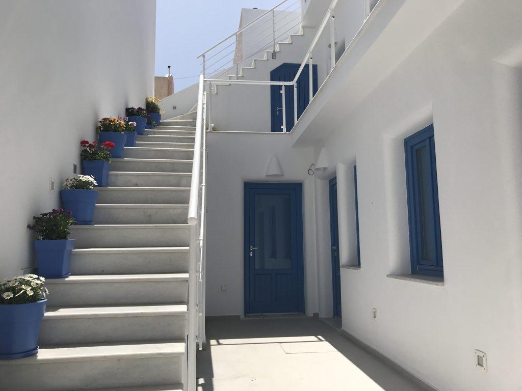 サントリーニ島の家