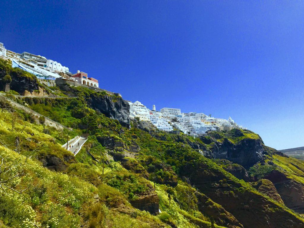 サントリーニ島ゴンドラからの景色