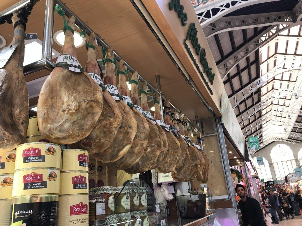 スペインバレンシアの市場