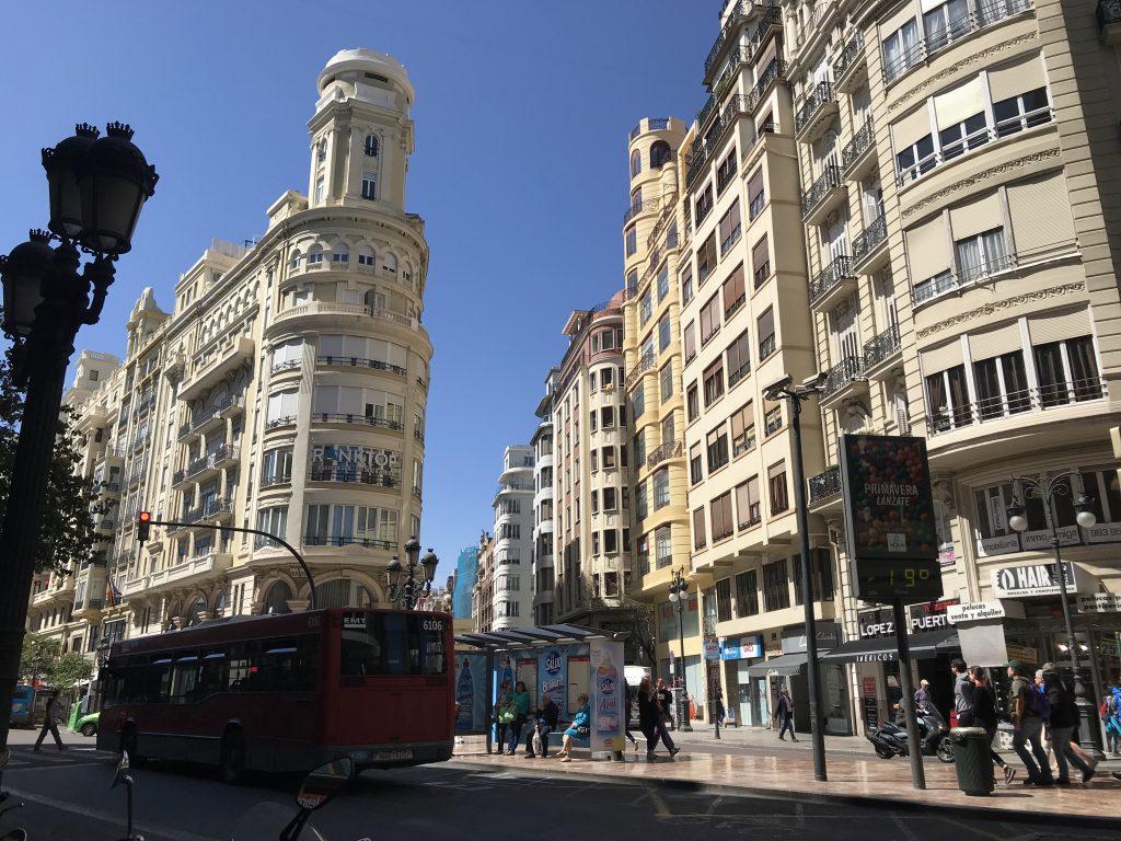 スペインバレンシアの街並み