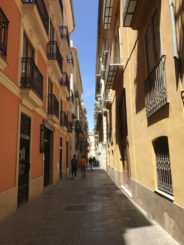 バレンシアの路地裏